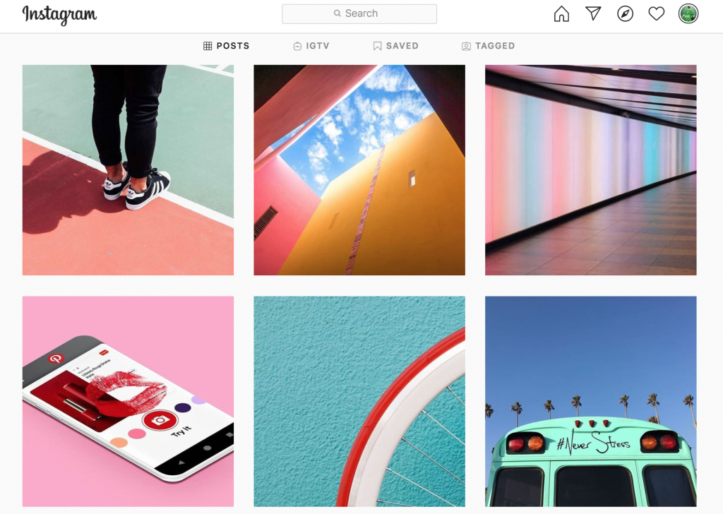 This screenshot is taken from Publer's Instagram feed to show the consistent colours.