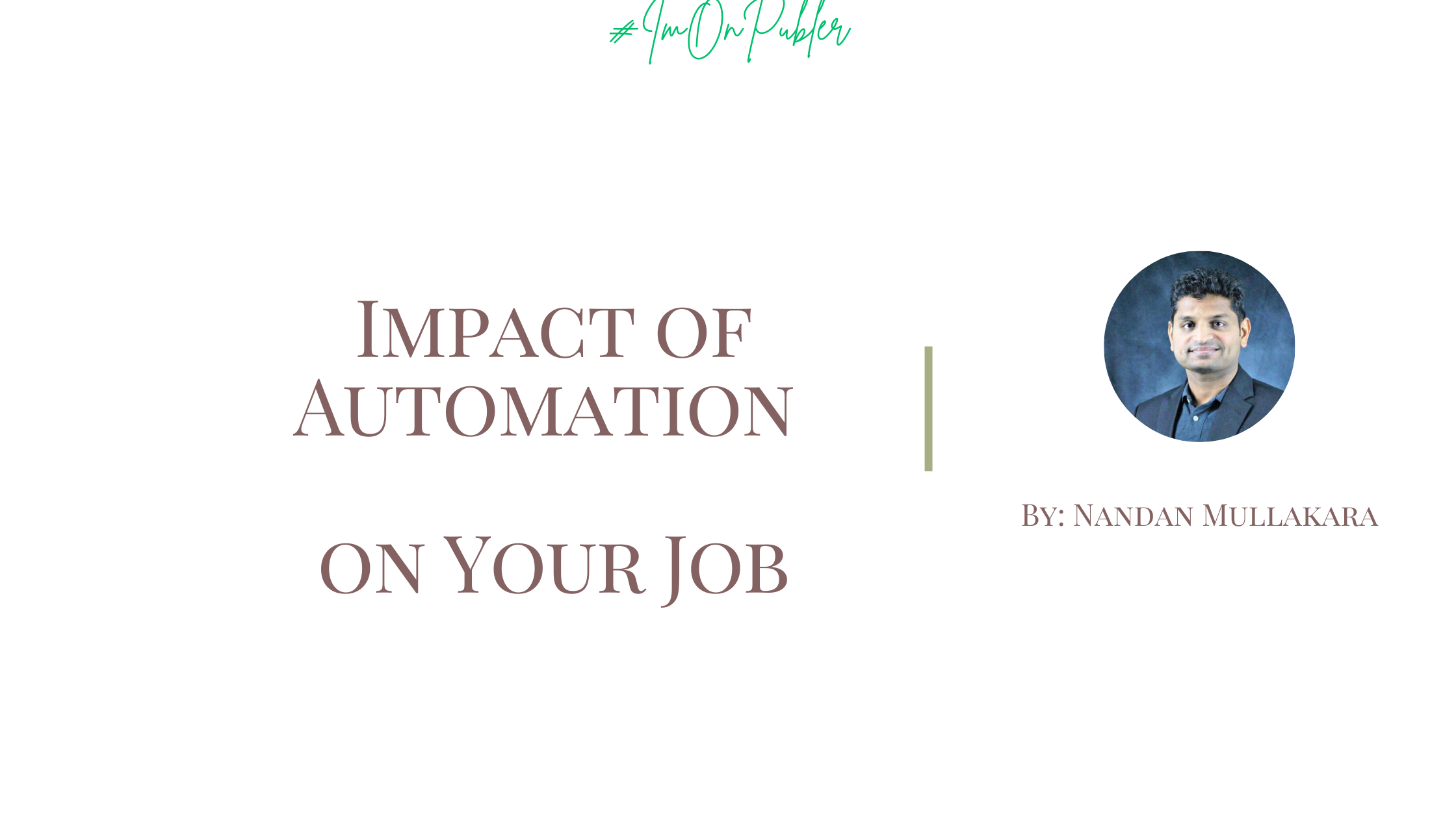 Here's a professional report and view on how automation is affecting our every day life and jobs. Tips to change everything for the better.